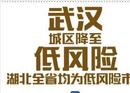 武汉城区降至低风险 湖北全省均为低风险市县